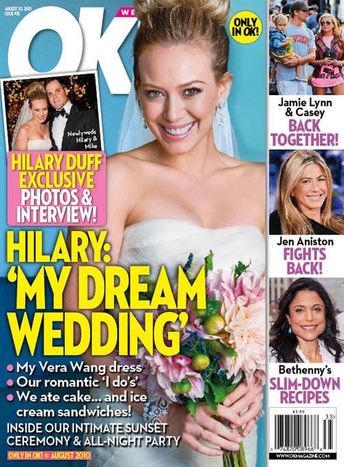 Hilary Duff Wedding Photo