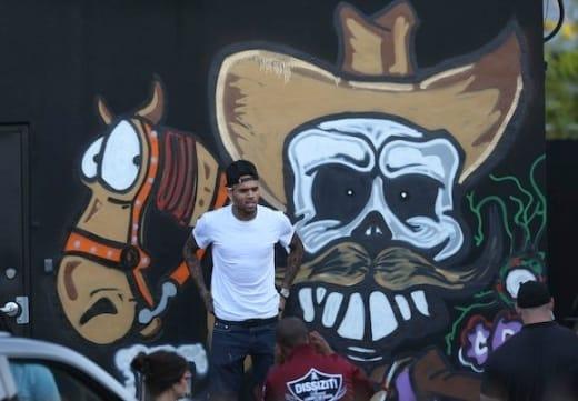 Chris Brown Spray Paint Mural