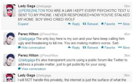 Lady Gaga - Perez Hilton Twitter War