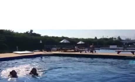 Kim Kardashian Dolphin Ride Video