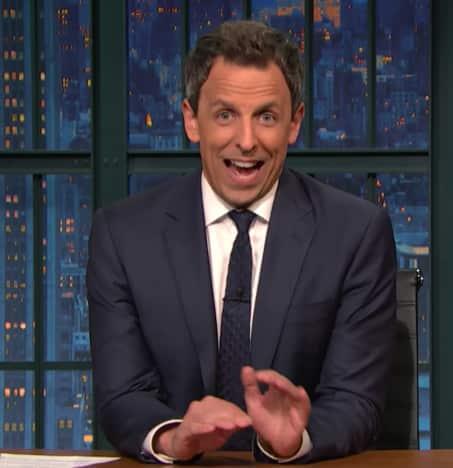 Seth Meyers on Late Night