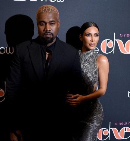 Kanye West and Kim Kardashian in 2018