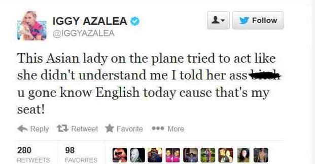 Iggy Azalea: Asian Remark