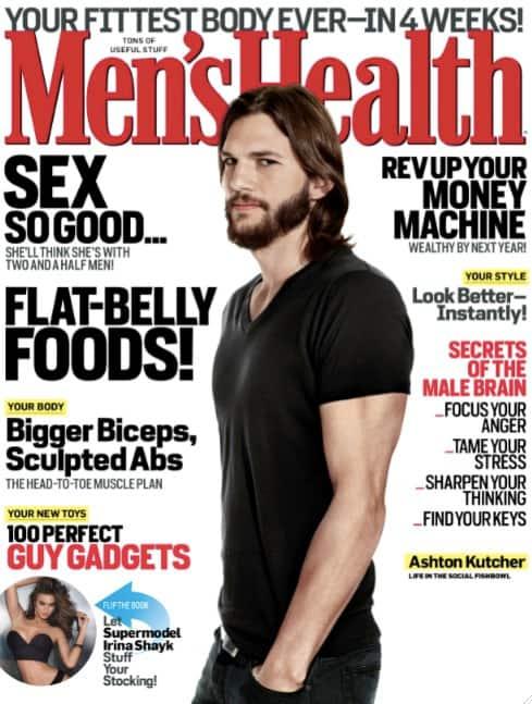 Ashton Kutcher Men's Health Cover