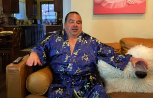 Big Ed Brown Drinks in His Robe