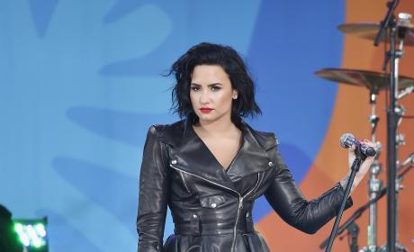 Demi Lovato on GMA Stage
