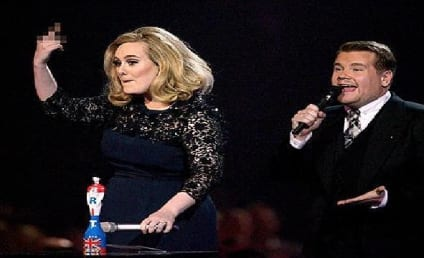 Adele Gets Cut Off at Brit Awards, Flips Off Producers on Stage