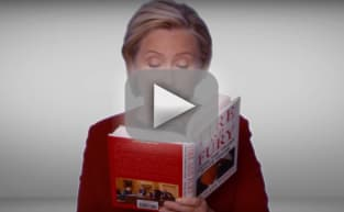 Hillary Clinton Trolls Trump, Reads Fire & Fury at 2018 Grammys