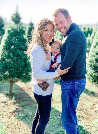John, Abbie, and Grace on Christmas
