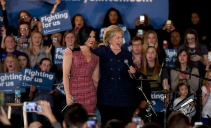 Demi Lovato Campaigns for Hillary Clinton in Iowa
