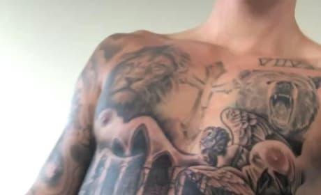 Crazy Chest Tattoo