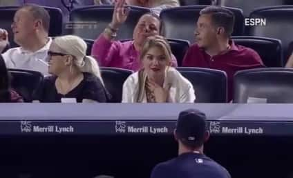 Kate Upton Reacts Adorably to Justin Verlander Baseball Toss: Watch!
