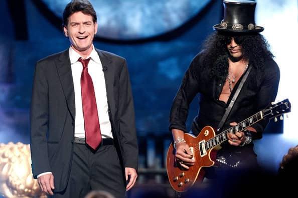 Charlie Sheen and Slash