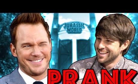 Chris Pratt: Pranked in Jurassic World Interview!