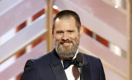 Jim Carrey at the Golden Globes