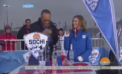 Lester Holt and Natalie Morales Pound Vodka on Air, Nearly Throw Up