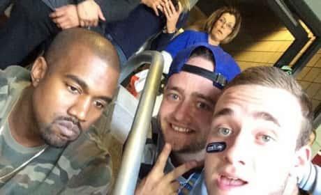 Kanye West Super Bowl Photo