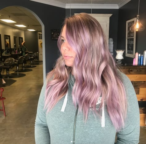 Kailyn Lowry Pink Hair
