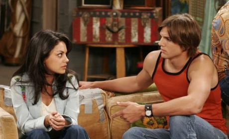 Mila and Ashton on That '70s Show