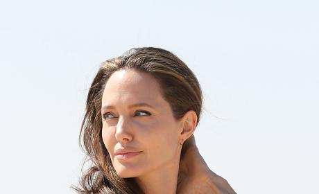 Angelina Jolie in a Black Shawl Photo