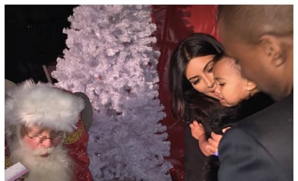 Kim Kardashian Introduces Daughter to Santa Claus, Tears Ensue