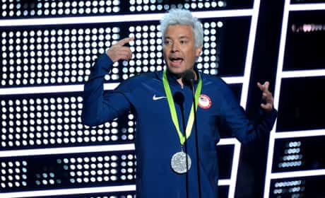 Jimmy Fallon Dressed as Ryan Lochte