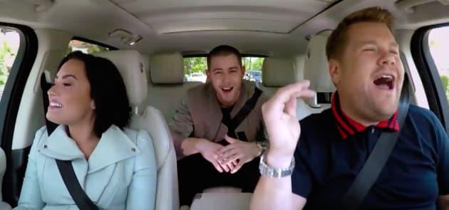 Demi Lovato and Nick Jonas Carpool Karaoke Pic