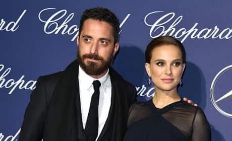 Natalie Portman & Benjamin Millepied Attend Awards Ceremony