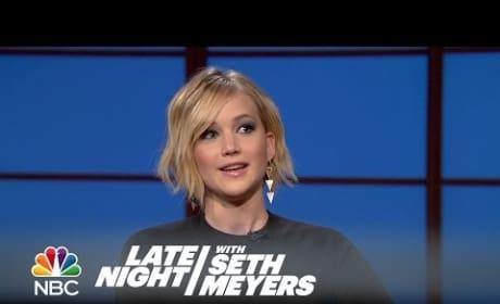 Jennifer Lawrence Talks Oscars Vomit