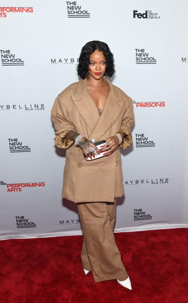 Rihanna Rocking Baggy Clothes