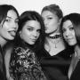 Gigi Hadid, Kendall Jenner, Kourtney Kardashian and Lily Aldridge