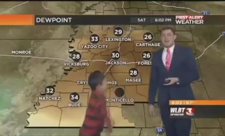 Child Interrupts Weather Report to Fart, Warns of Toot Storm