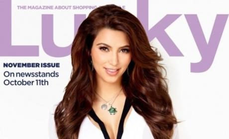 Which Kardashian sister looks best on the cover of Lucky?