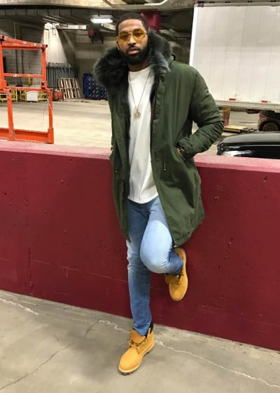 Tristan Thompson Bundles Up