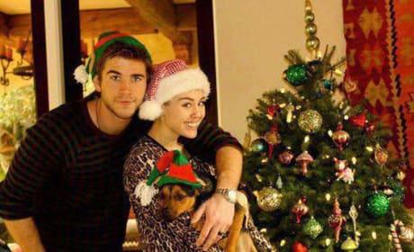 Miley and Liam on Christmas