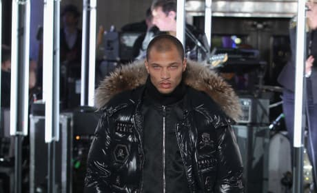 Jeremy Meeks Walks Runway