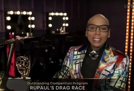 RuPaul con premio Emmy