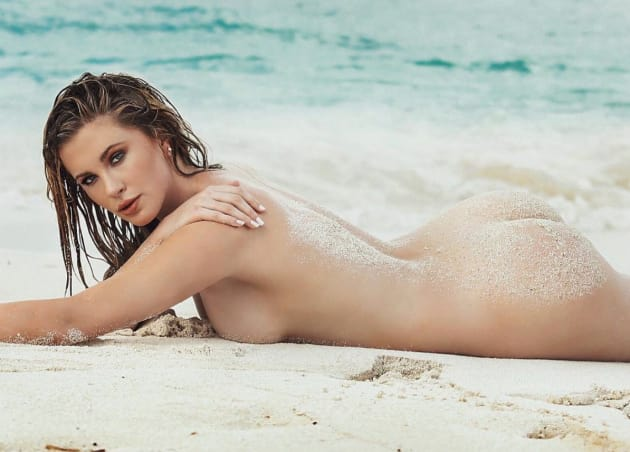 Ireland Baldwin: Naked on a Beach
