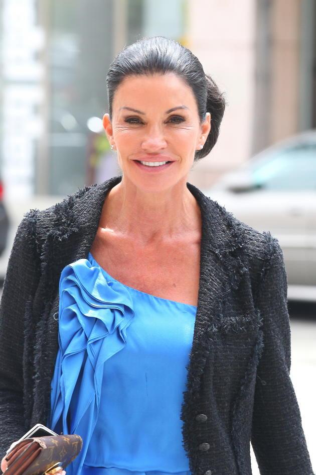 Janice Dickinson on the Street