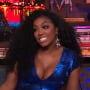 Porsha williams in blue on watch what happens live