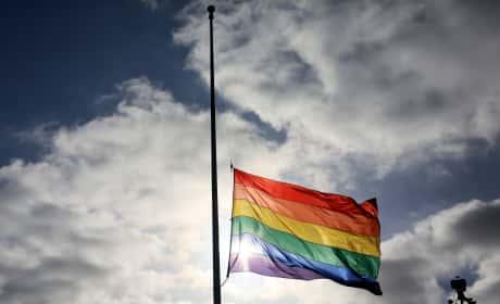 Pride Flags Flies At Half Mast In San Diego