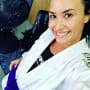 Demi Lovato, Blue Belt Selfie