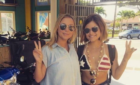 Lucy Hale on July 4