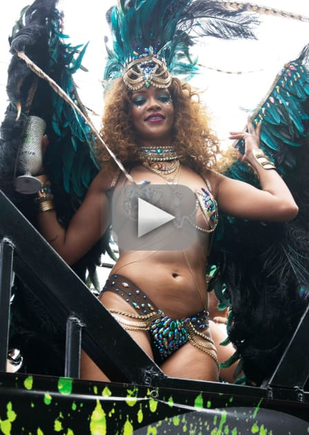 Rihanna Twerks Up Major Storm in Barbados
