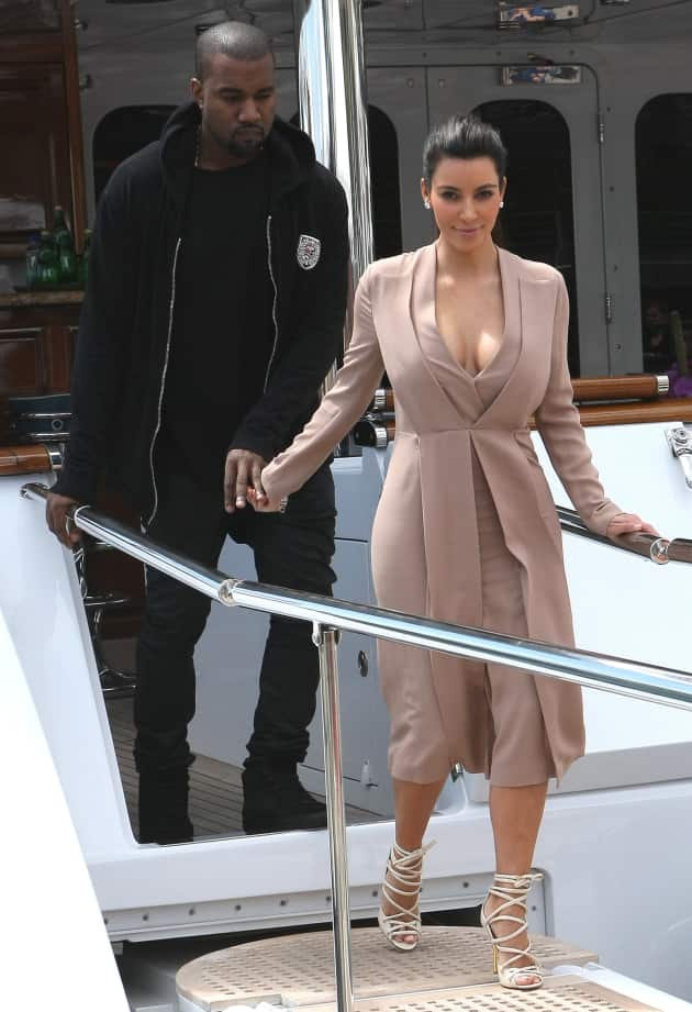 Kanye and Kim on a Yacht