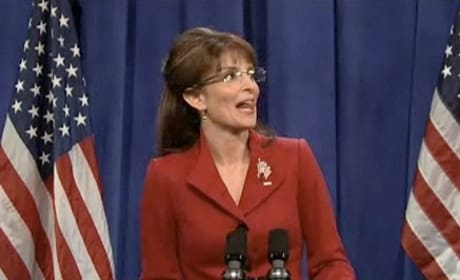 Tina Fey and Sarah Palin on Saturday Night Live