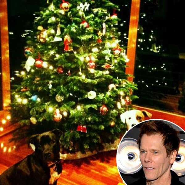 Celebrities decorate for the holidays the hollywood gossip for Bacon christmas tree decoration