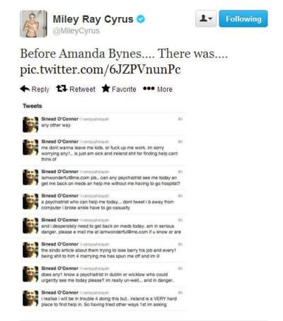 Miley Tweet screen grab