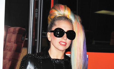 Lady Gaga's Rainbow Hair