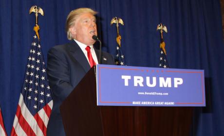Donald Trump Gives a Speech